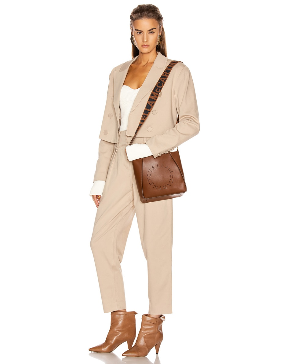 Image 2 of Stella McCartney Mini Crossbody Bag in Cinnamon