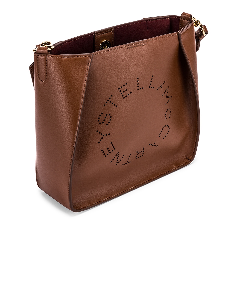 Image 5 of Stella McCartney Mini Crossbody Bag in Cinnamon