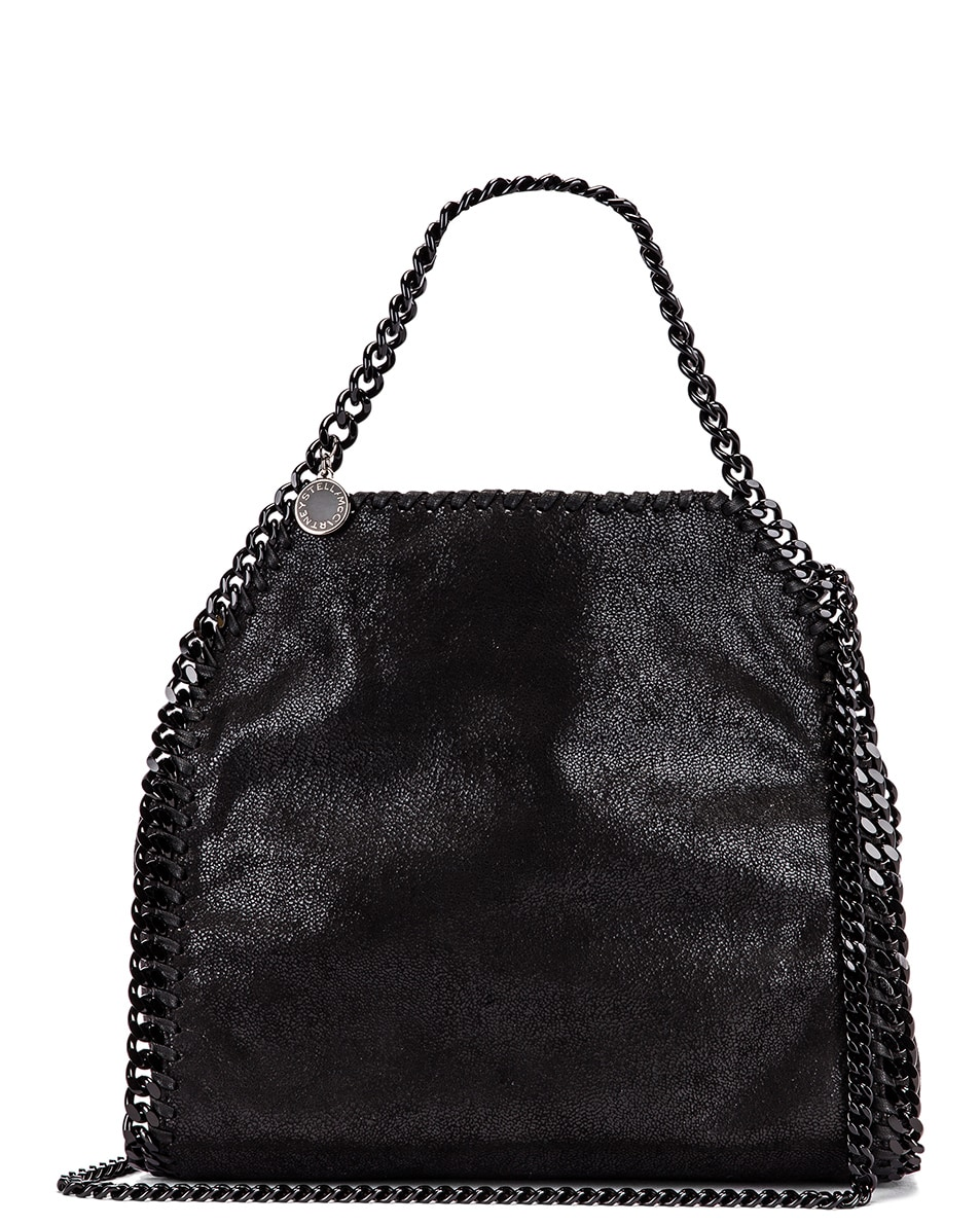 Image 1 of Stella McCartney Mini Falabella Tote Bag in Black