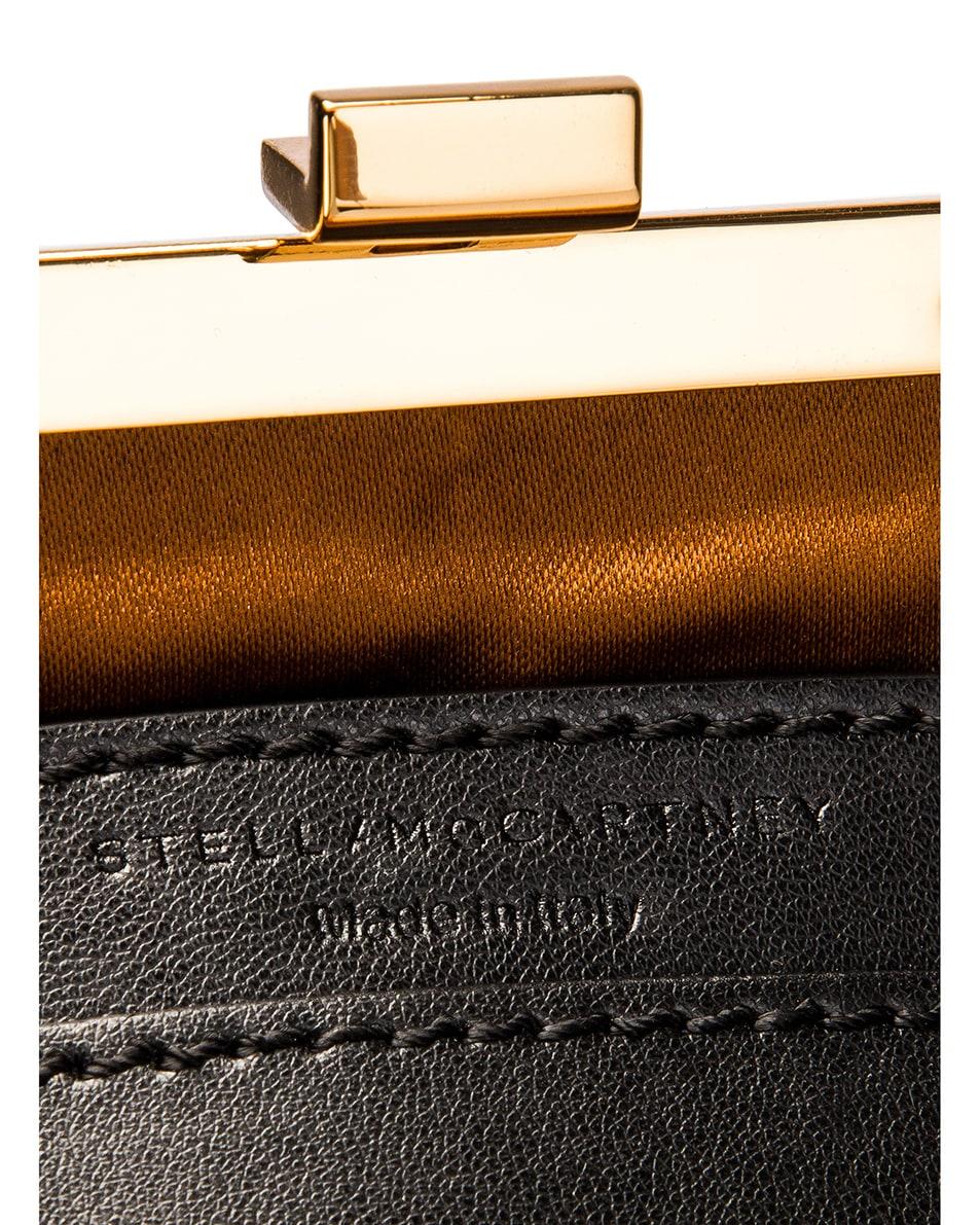 Image 7 of Stella McCartney Mini Frame Monogram Velvet Crystal Bag in Black