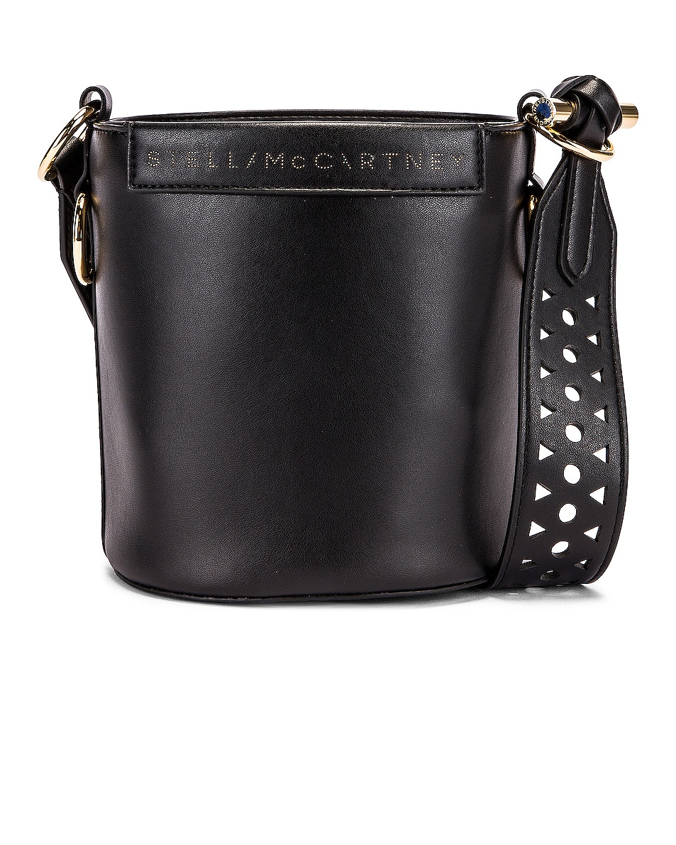 Image 1 of Stella McCartney Small Bucket Bag in Black