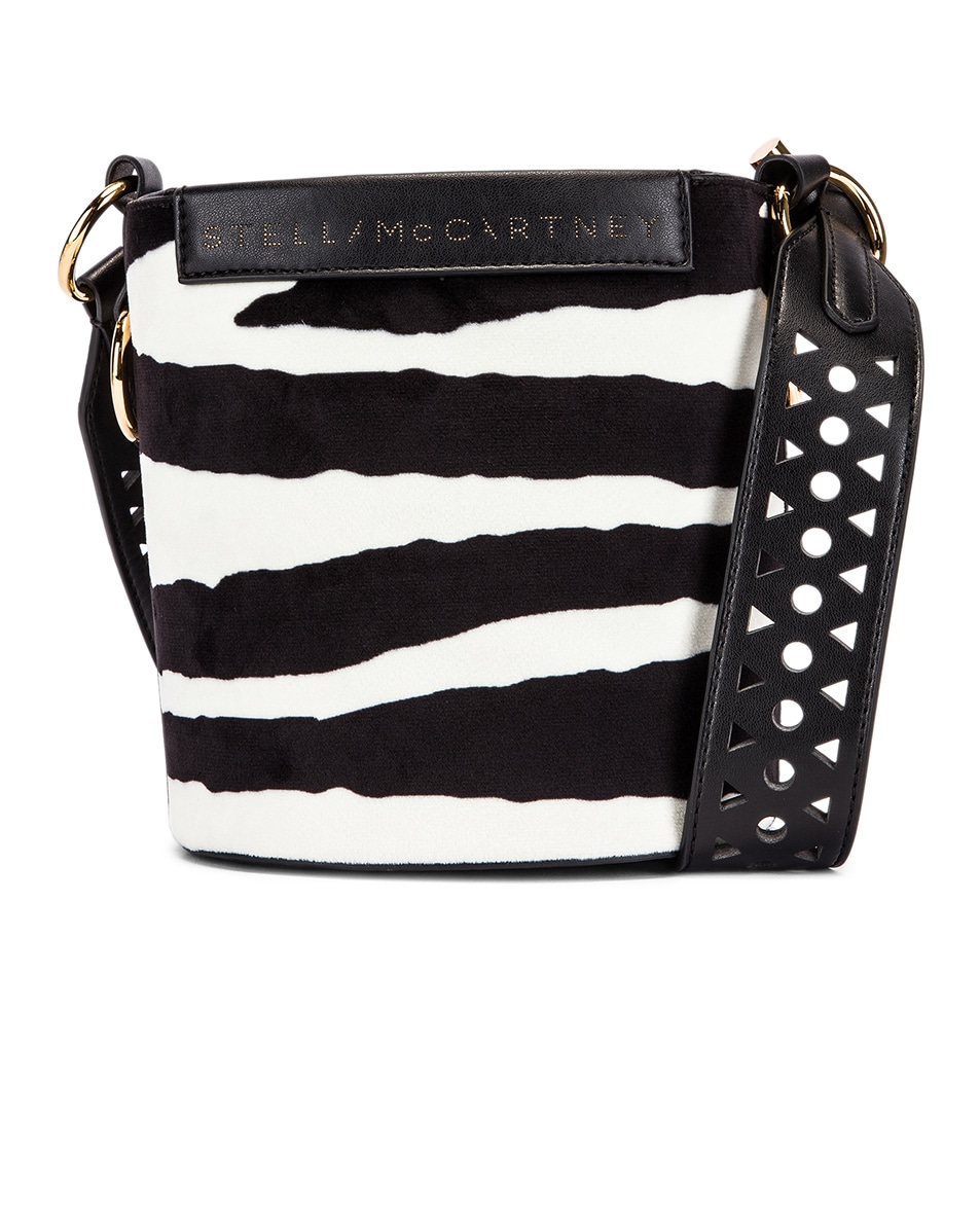 Stella Mccartney Bags Small Zebra Bucket Bag