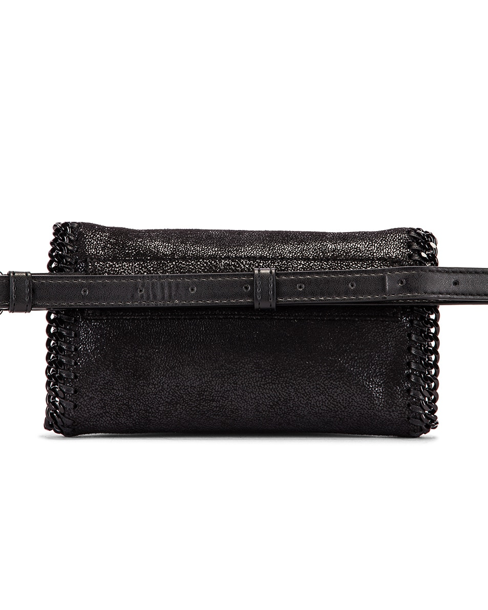 Image 3 of Stella McCartney Falabella Flap Chain Belt Bag in Black