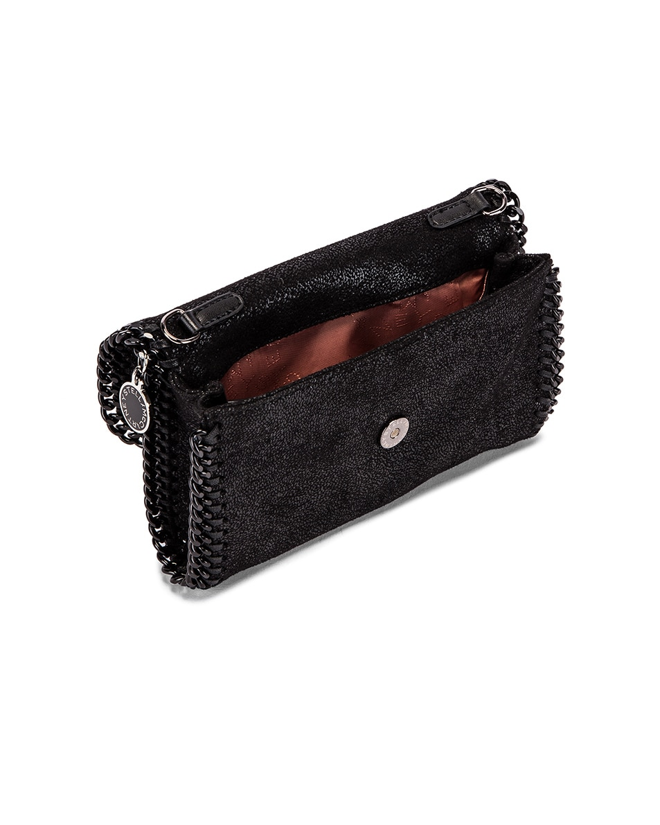Image 5 of Stella McCartney Falabella Flap Chain Belt Bag in Black