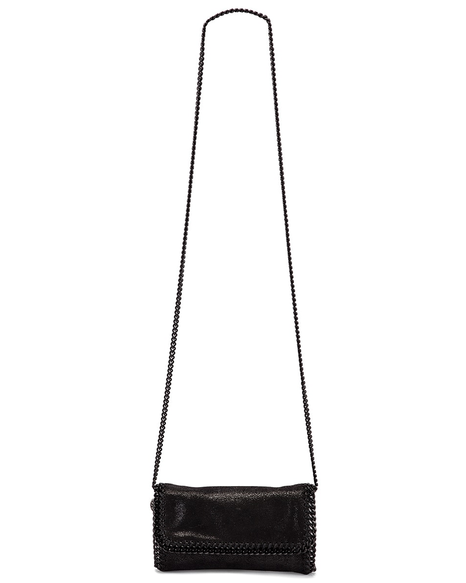 Image 6 of Stella McCartney Falabella Flap Chain Belt Bag in Black