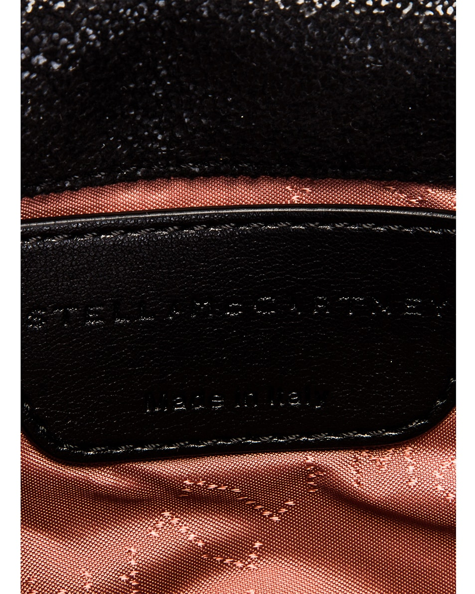 Image 7 of Stella McCartney Falabella Flap Chain Belt Bag in Black