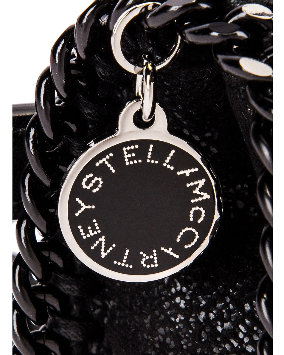Image 8 of Stella McCartney Falabella Flap Chain Belt Bag in Black