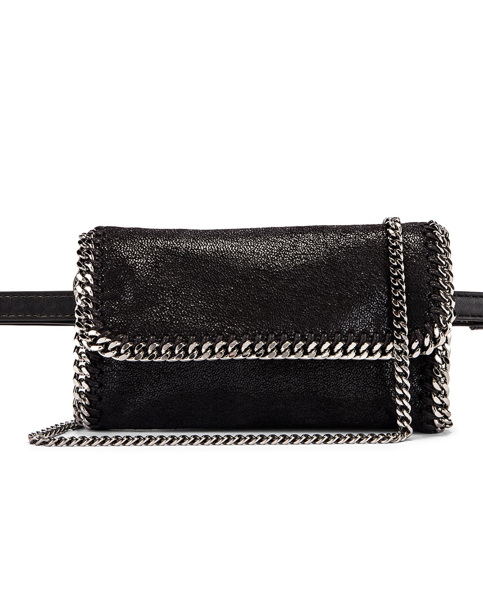 Image 1 of Stella McCartney Flap Falabella Belt Bag in Black