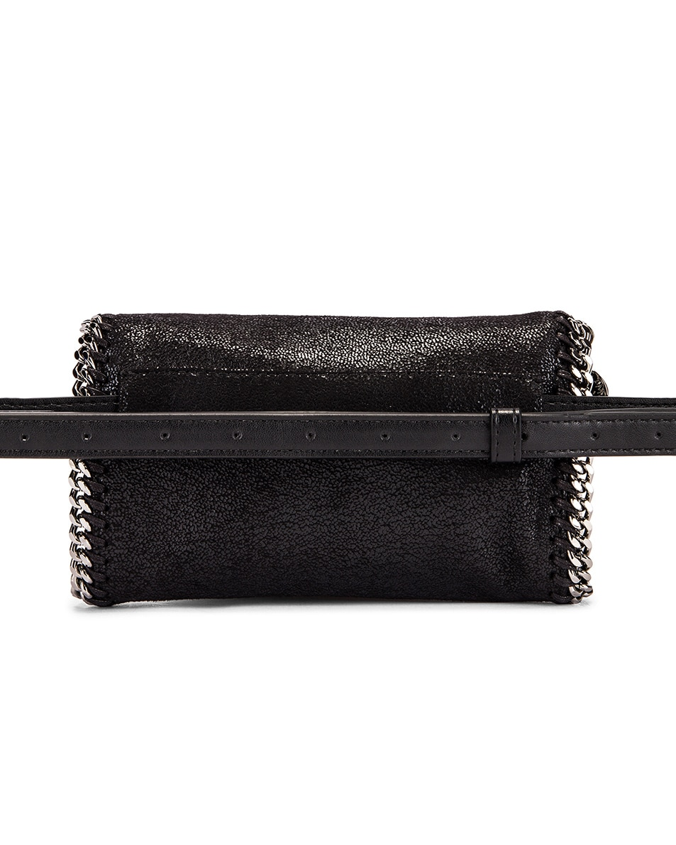 Image 3 of Stella McCartney Flap Falabella Belt Bag in Black