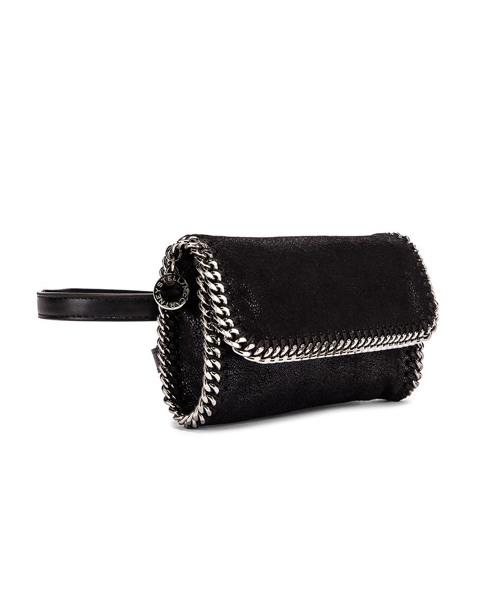 Image 4 of Stella McCartney Flap Falabella Belt Bag in Black