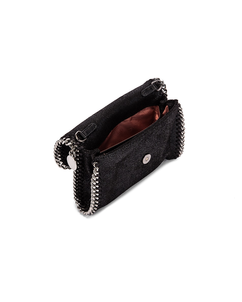 Image 5 of Stella McCartney Flap Falabella Belt Bag in Black