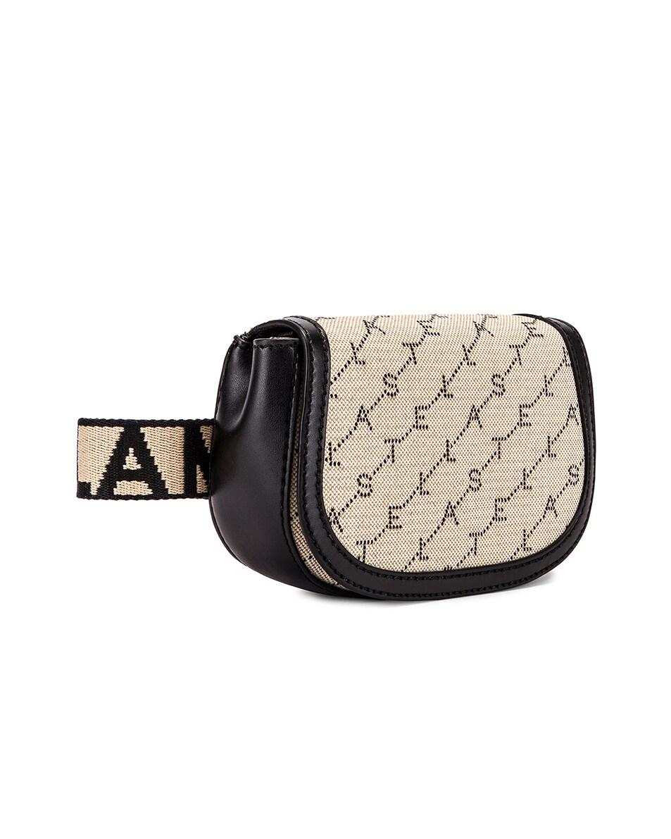 Image 4 of Stella McCartney Flap Canvas Belt Bag in Sand