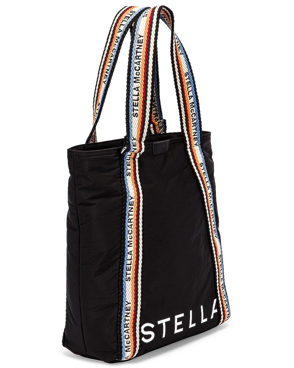 Image 4 of Stella McCartney Medium Zip Padded Nylon Tote in Black