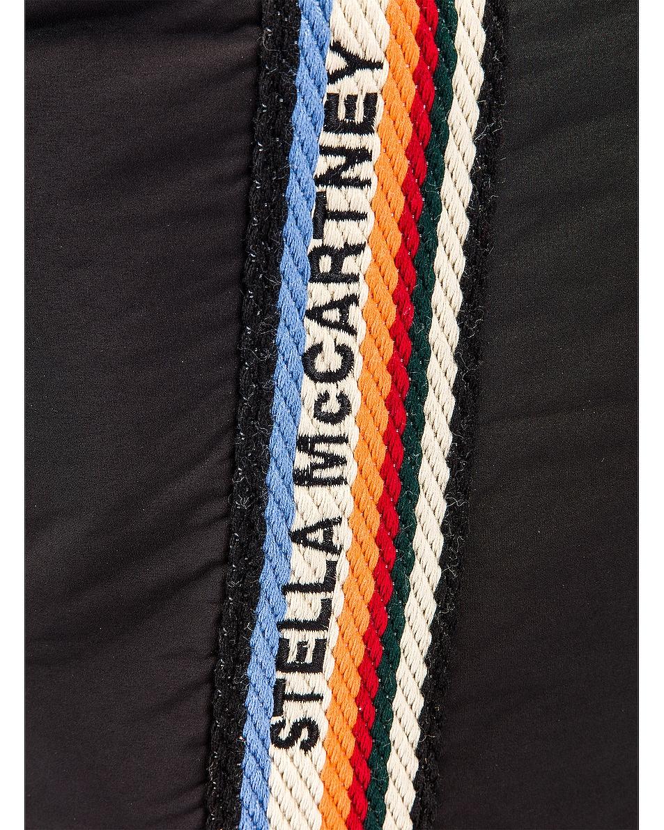 Image 7 of Stella McCartney Medium Zip Padded Nylon Tote in Black