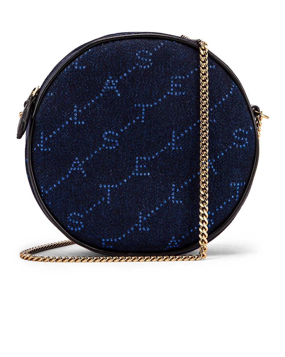 Image 1 of Stella McCartney Mini Round Monogram Bag in Bluette