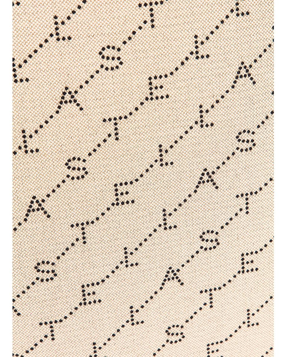 Image 8 of Stella McCartney Large Top Handle Monogram Canvas Bag in Sand