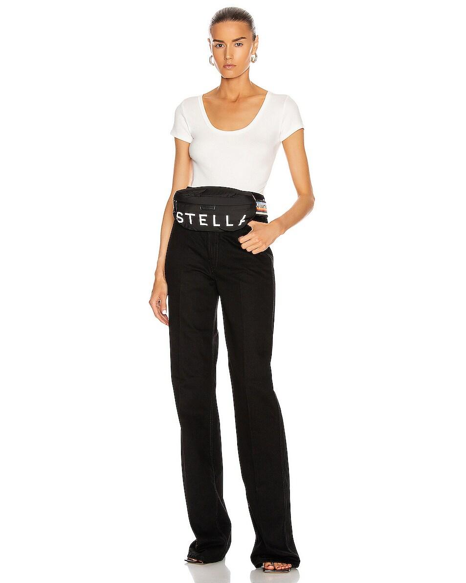 Image 2 of Stella McCartney Falabella Padded Nylon Bum Bag in Black