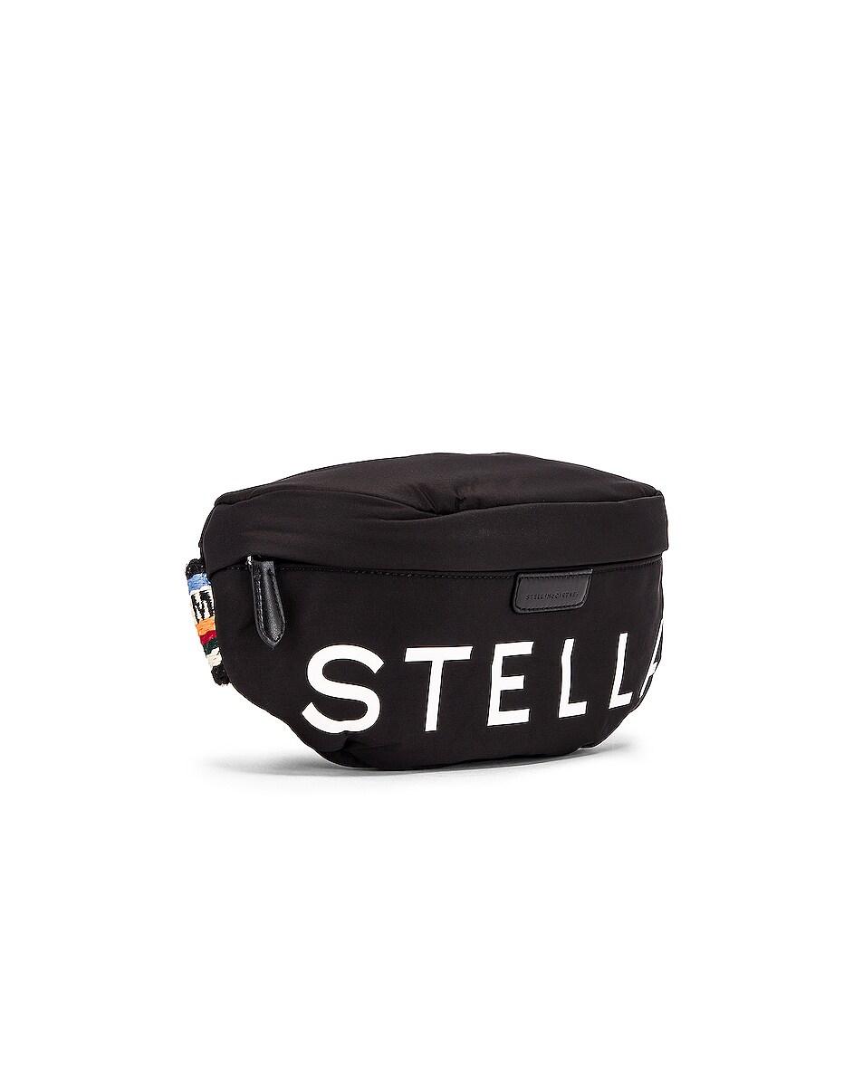 Image 4 of Stella McCartney Falabella Padded Nylon Bum Bag in Black