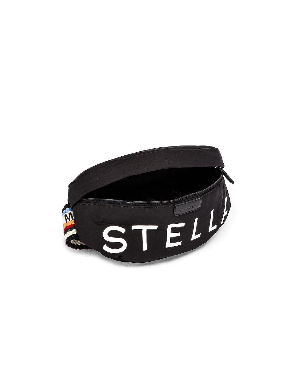 Image 5 of Stella McCartney Falabella Padded Nylon Bum Bag in Black
