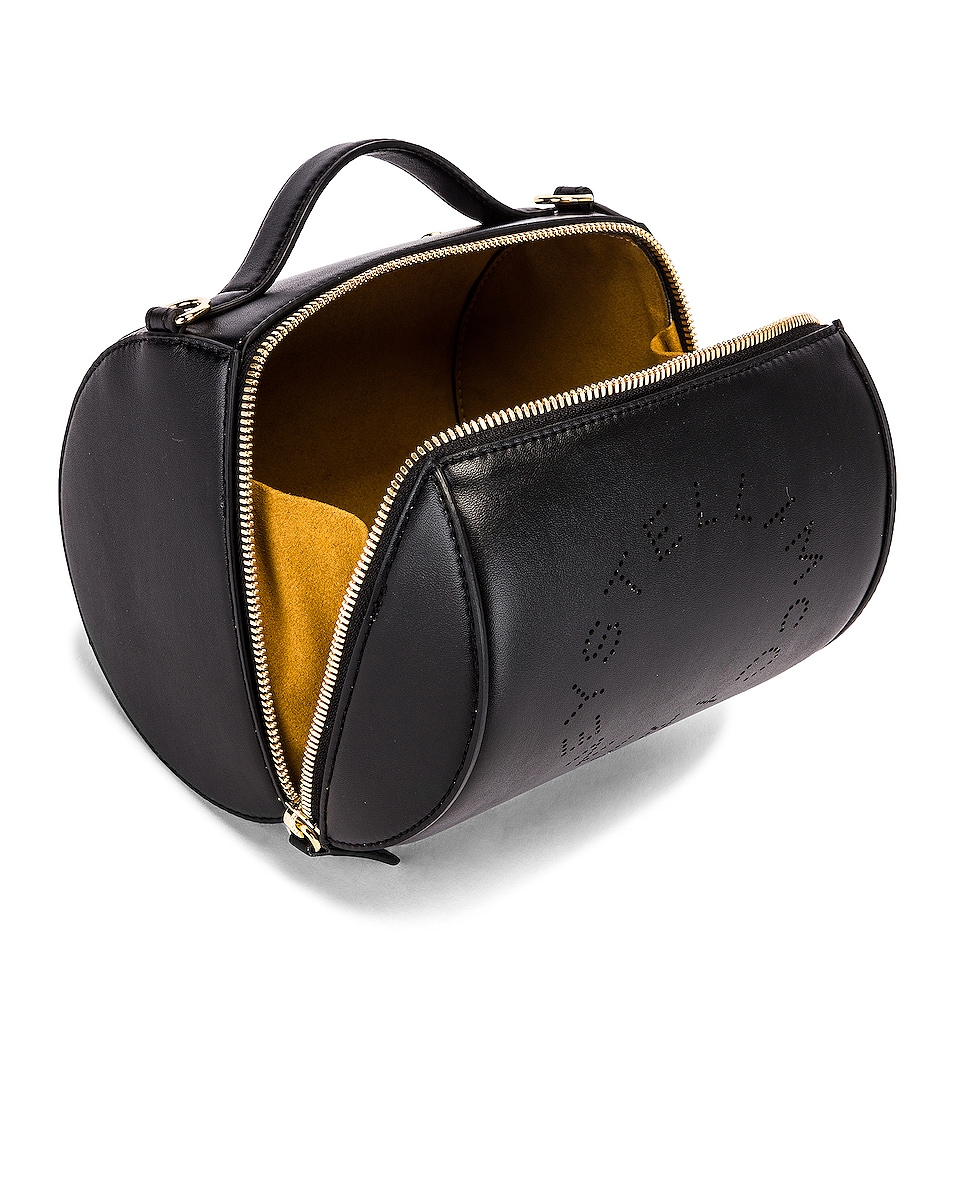 Image 5 of Stella McCartney Small Zip Around Shoulder Bag in Black