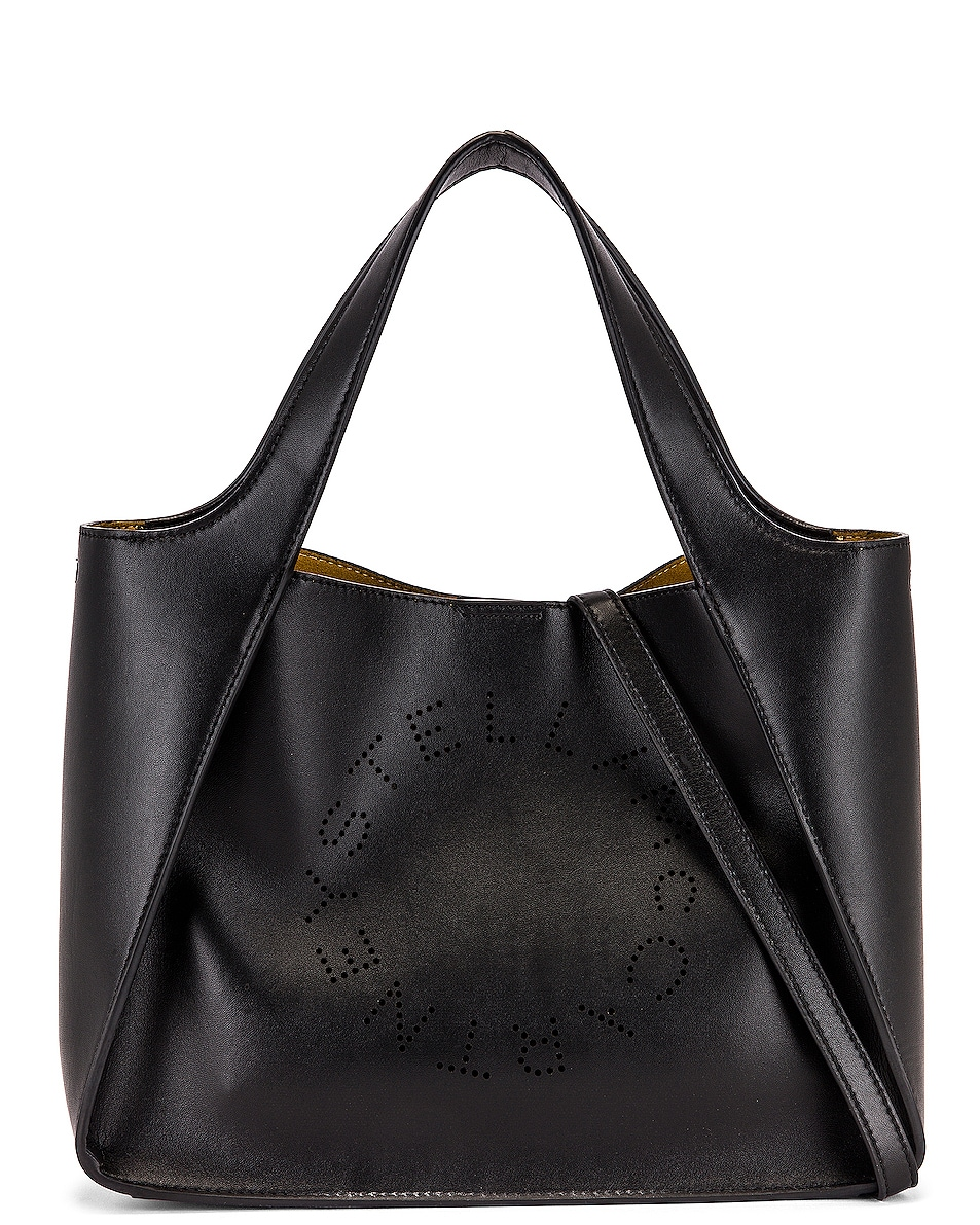 Image 1 of Stella McCartney Leather Crossbody Bag in Black