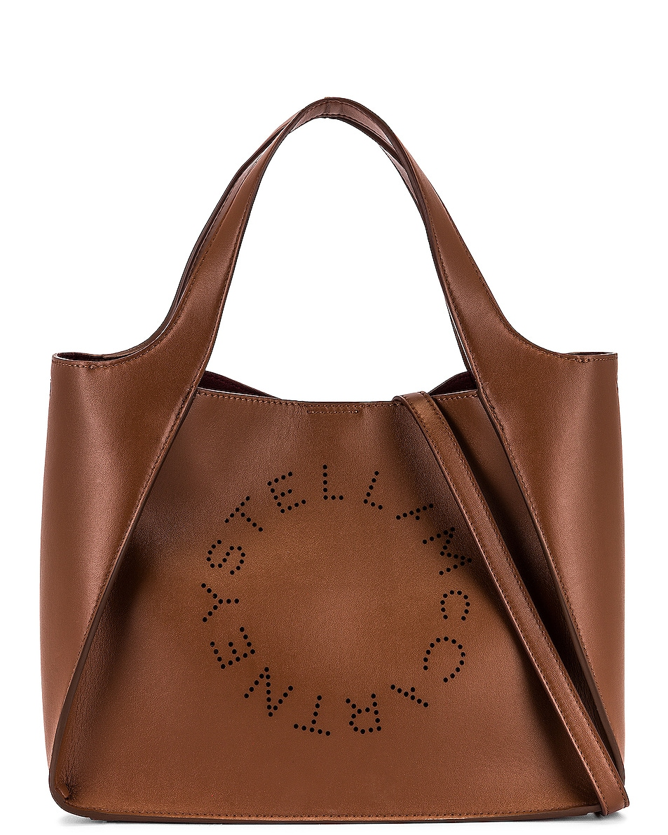 Image 1 of Stella McCartney Logo Crossbody Bag in Cuoio