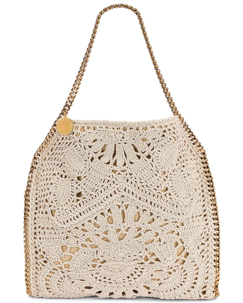 Image 1 of Stella McCartney Small Crochet Ajouree Bag in Butter