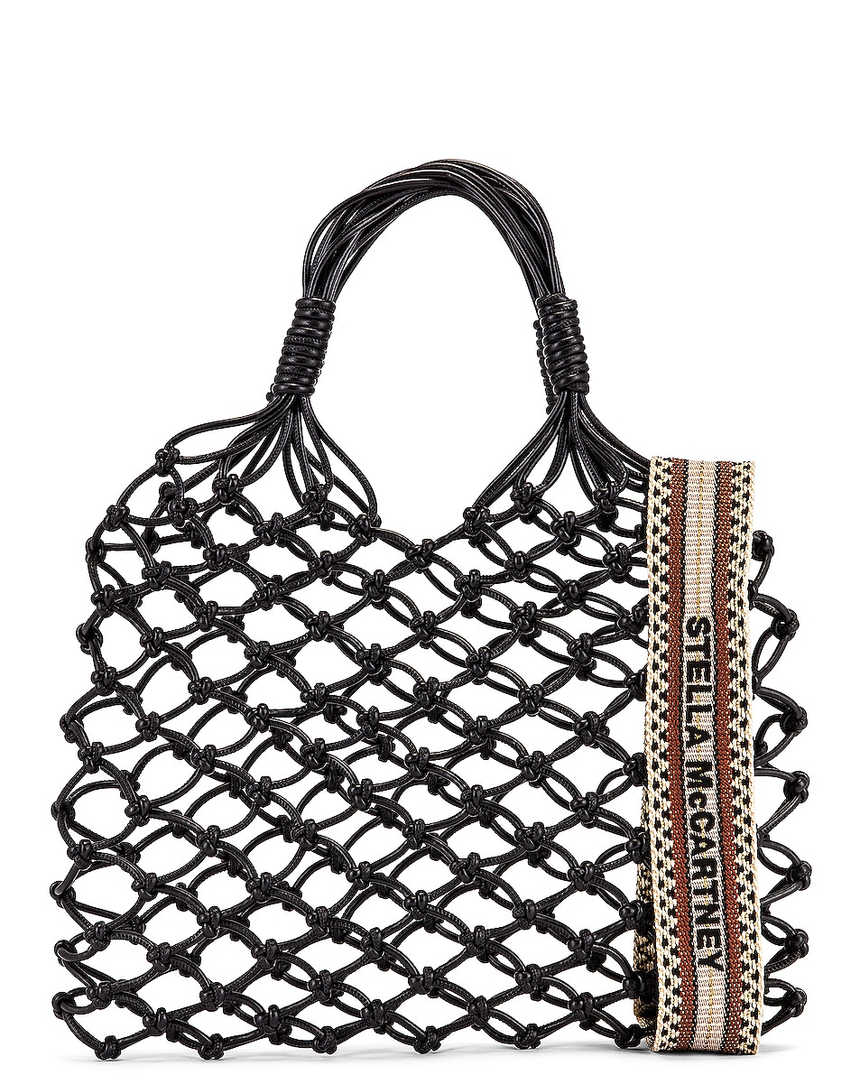 Image 1 of Stella McCartney Knotted Tote Bag in Black