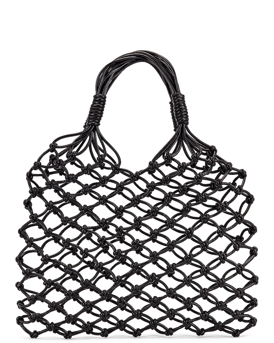 Image 3 of Stella McCartney Knotted Tote Bag in Black