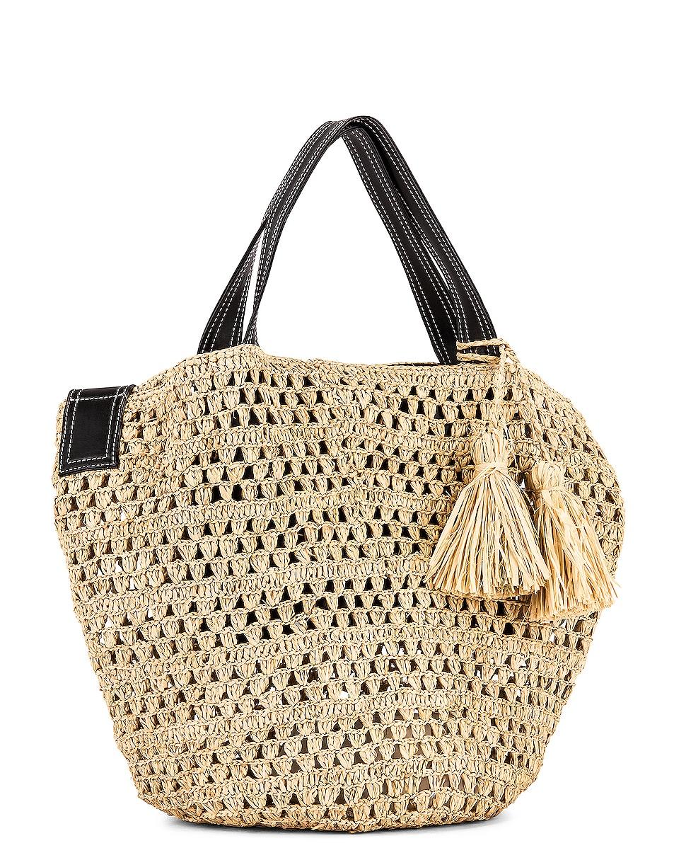 Image 4 of Stella McCartney Ajouree Raffia Bucket Bag in Light Sand