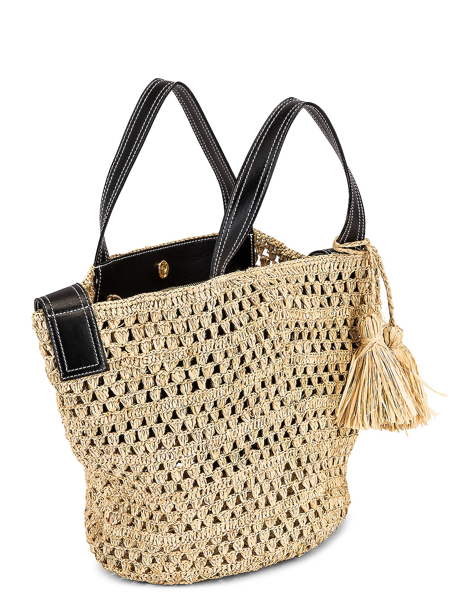 Image 5 of Stella McCartney Ajouree Raffia Bucket Bag in Light Sand
