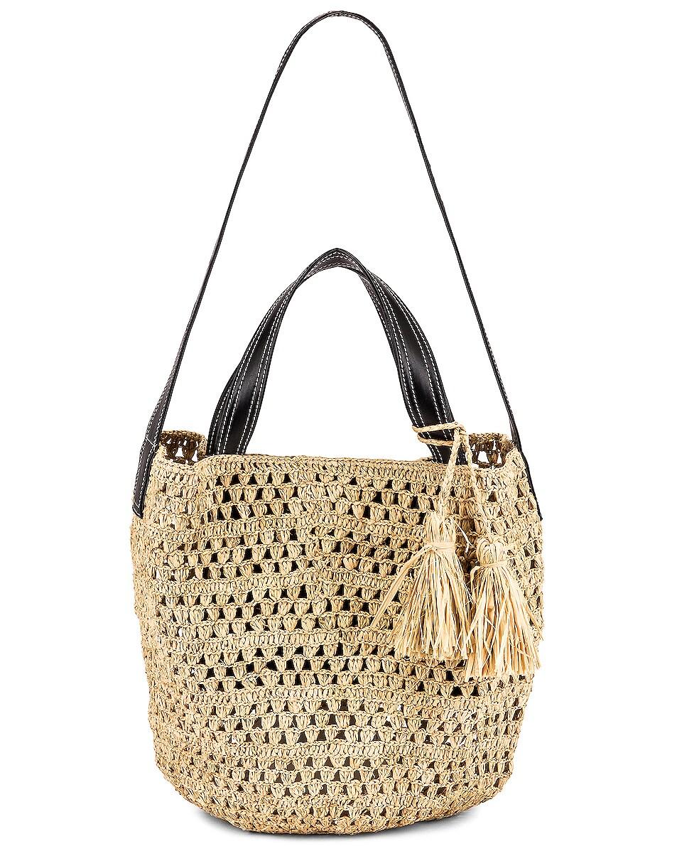 Image 6 of Stella McCartney Ajouree Raffia Bucket Bag in Light Sand