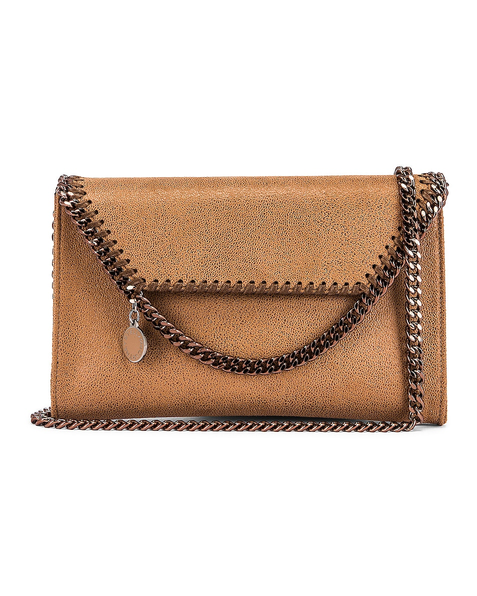 Image 1 of Stella McCartney Mini Falabella Shaggy Deer Crossbody Bag in New Camel