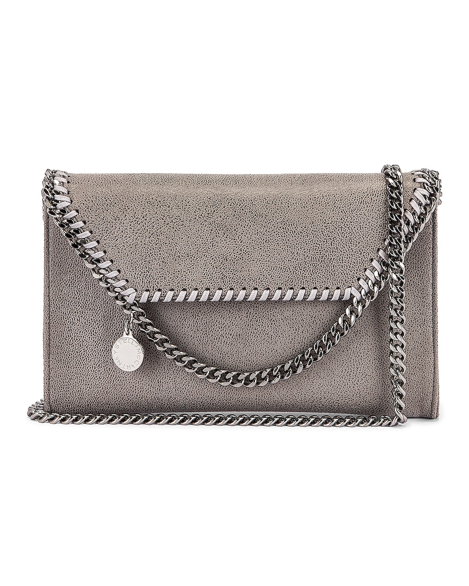 Image 1 of Stella McCartney Mini Falabella Shaggy Deer Crossbody Bag in Light Grey