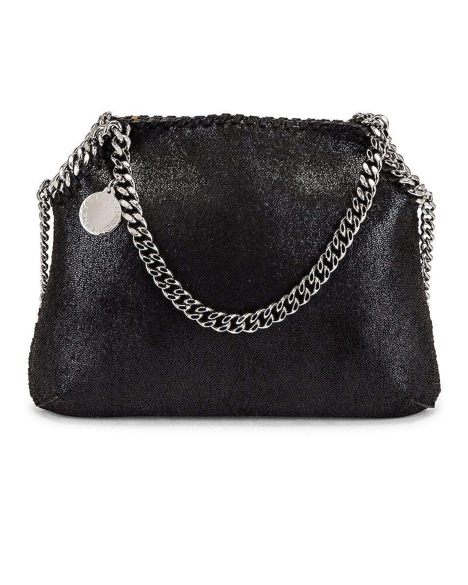 Image 1 of Stella McCartney Mini Falabella Shaggy Deer Tote in Black