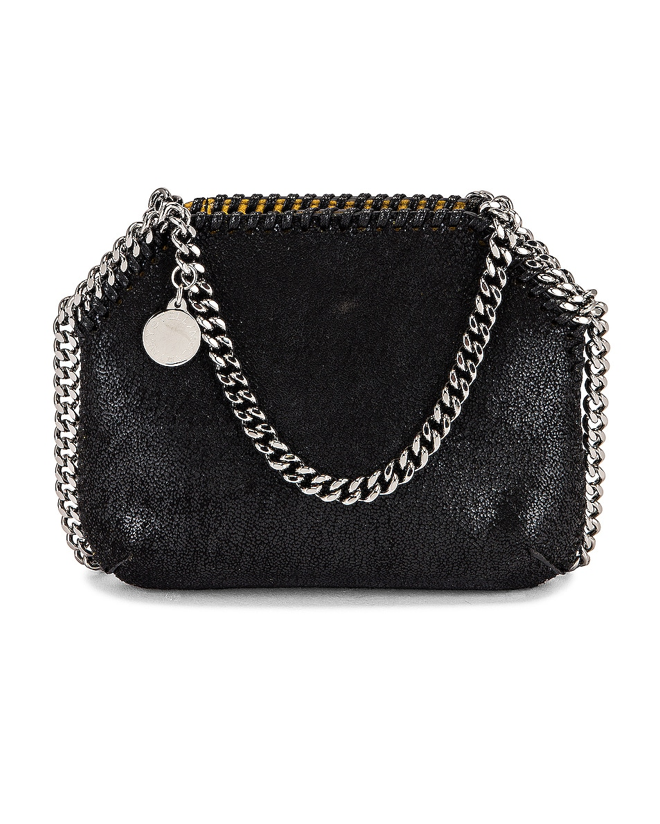 Image 1 of Stella McCartney Tiny Falabella Shaggy Deer Tote in Black