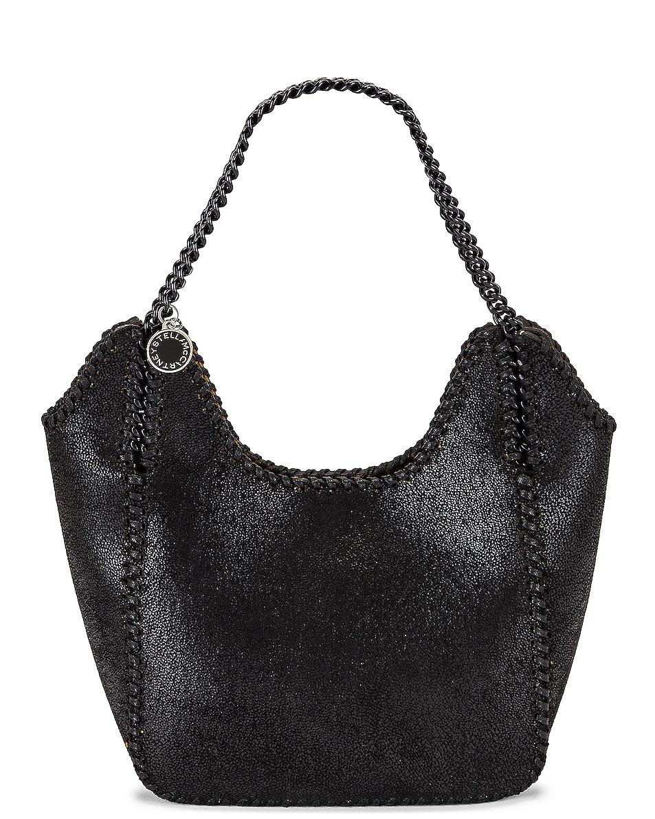 Image 1 of Stella McCartney Mini Shaggy Deer Tote Bag in Black