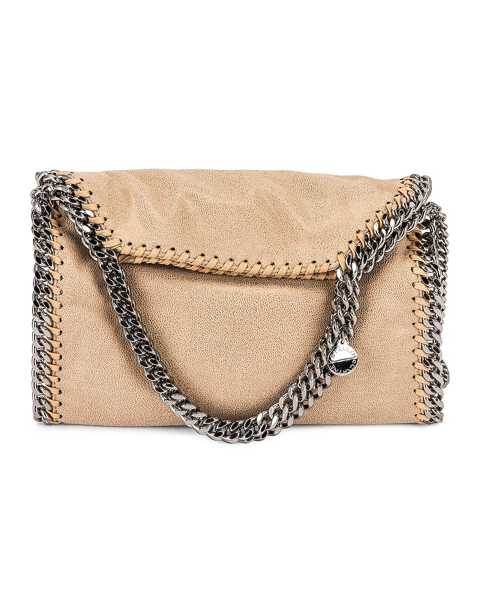 Image 1 of Stella McCartney Mini Shaggy Deer Falabella Tote in Butter Cream