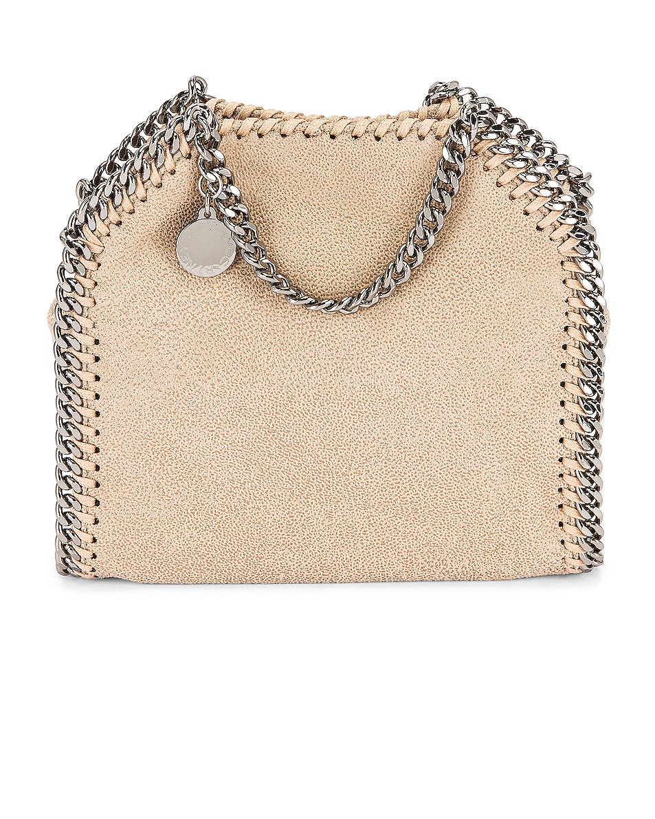Image 1 of Stella McCartney Shaggy Deer Falabella Tiny Tote in Butter Cream