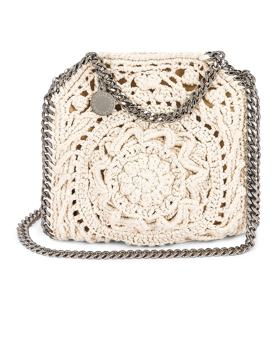 Image 1 of Stella McCartney Tiny Flower Falabella Tote in Ivory