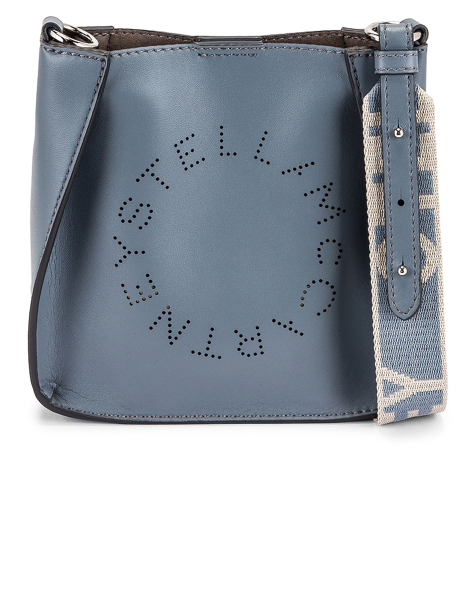 Image 1 of Stella McCartney Tiny Eco Soft Logo Crossbody Bag in Cameo Blue