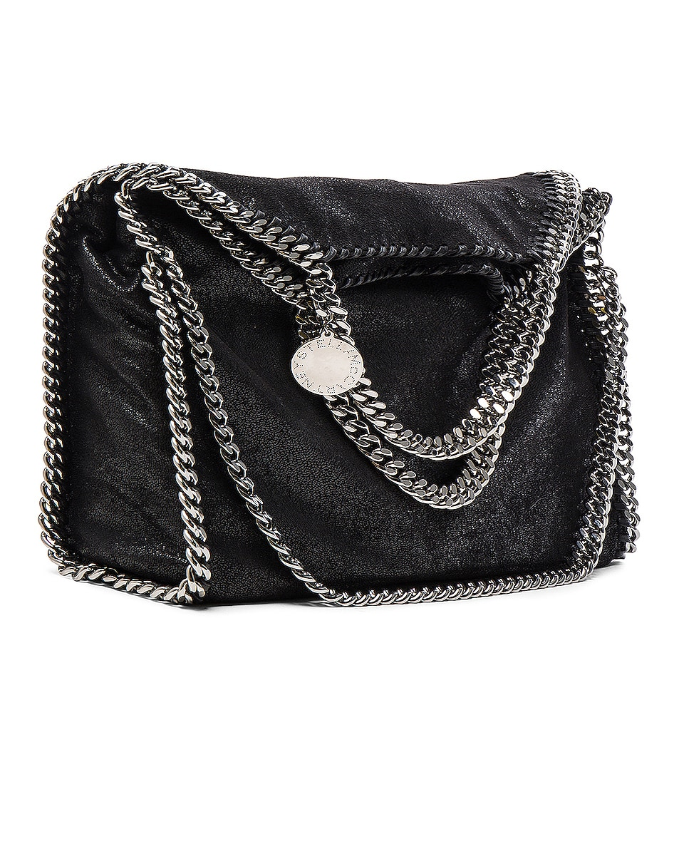 Image 1 of Stella McCartney Falabella Shaggy Deer Small Tote in Black