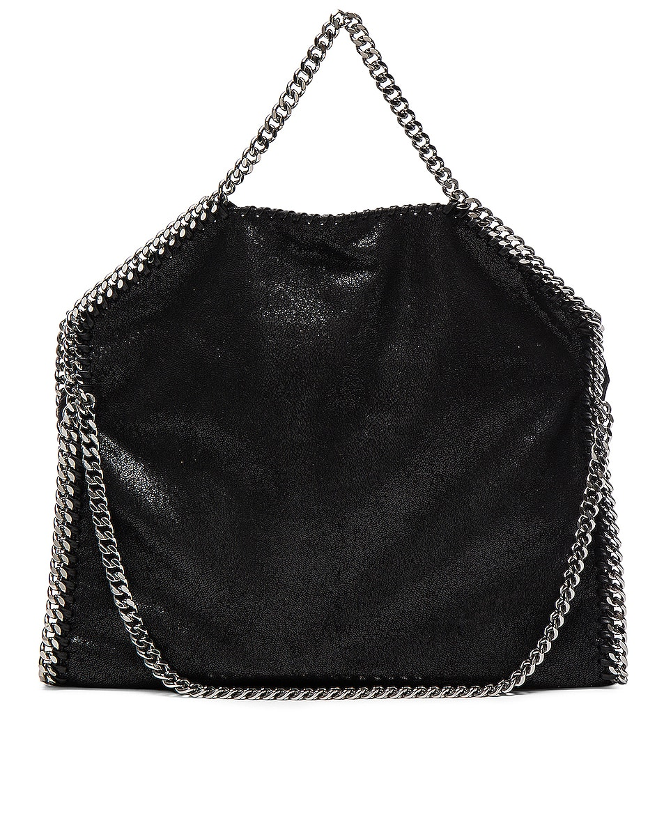 Image 3 of Stella McCartney Falabella Shaggy Deer Small Tote in Black