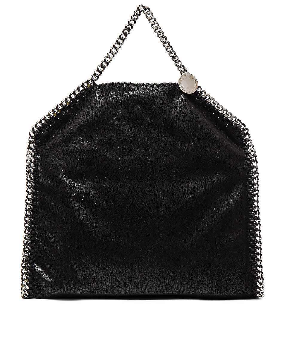 Image 4 of Stella McCartney Falabella Shaggy Deer Small Tote in Black
