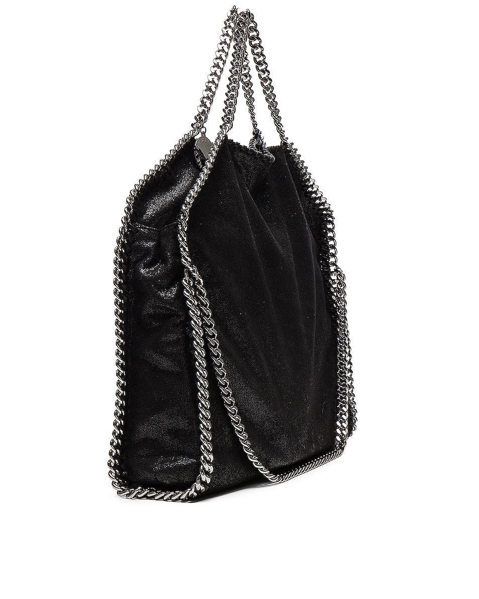 Image 5 of Stella McCartney Falabella Shaggy Deer Small Tote in Black