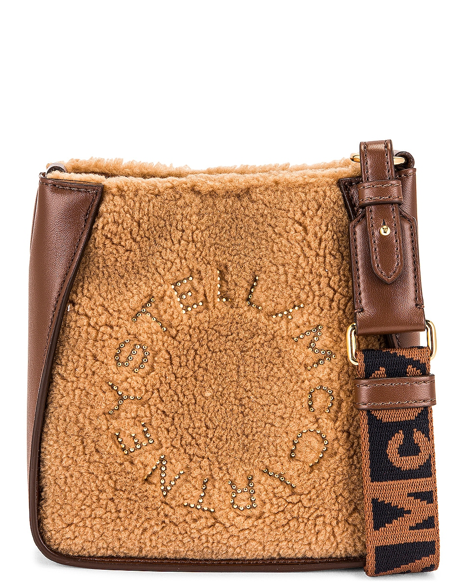 Image 1 of Stella McCartney Small Hobo Eco Teddy Bag in Biscuit