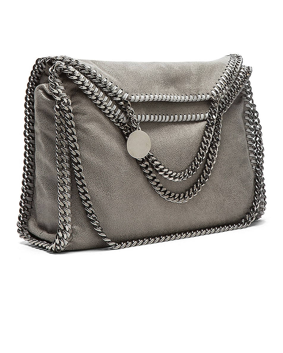Image 1 of Stella McCartney Small Falabella Fold Over Tote in Light Grey