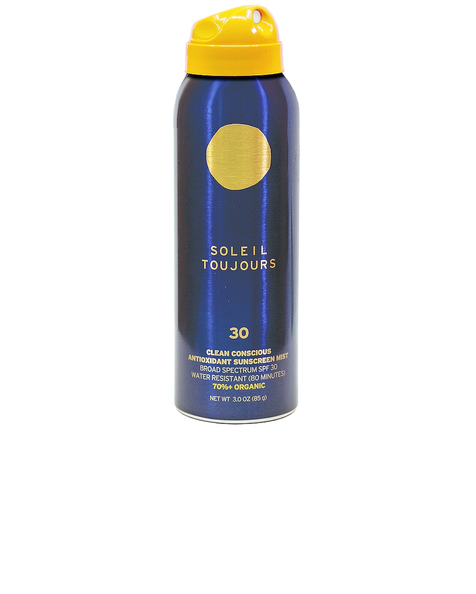 Image 1 of Soleil Toujours Travel Clean Conscious Antioxidant Sunscreen Mist SPF 30 in