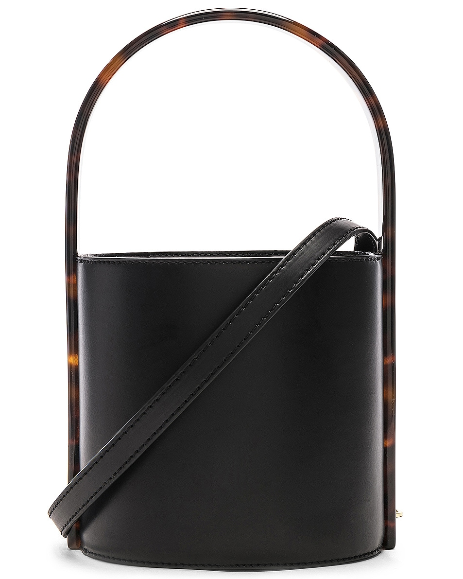 Image 1 of Staud Bissett Bag in Black & Tortoise
