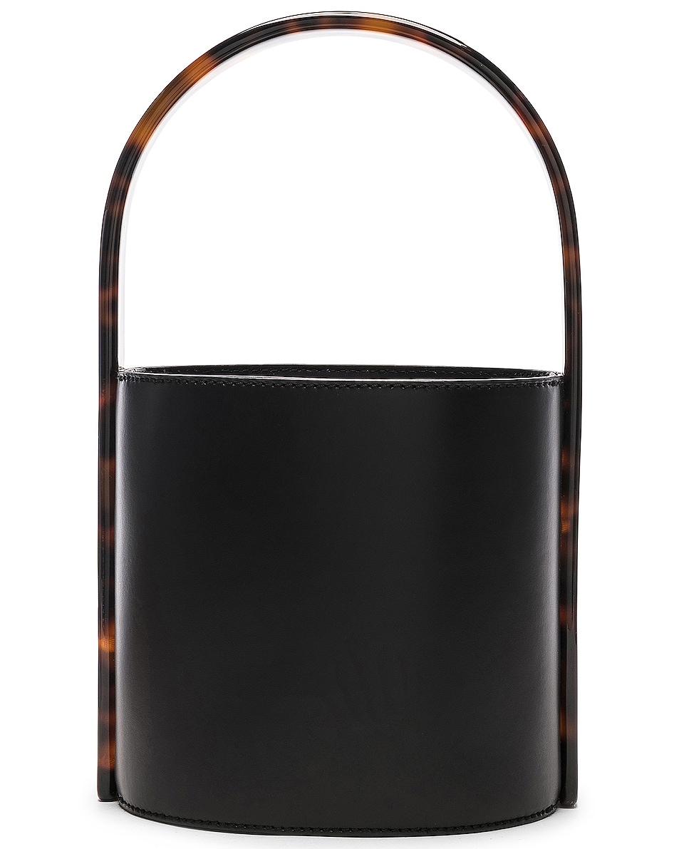 Image 2 of Staud Bissett Bag in Black & Tortoise